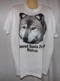Edmond Santa Fe High Wolves T Shirt New Large & X-Large Oklahoma City