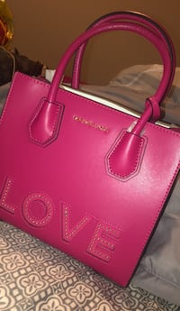 red Michael Kors leather tote bag Temple Hills, 20748
