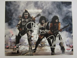 Kiss Band Hand Signed 8x10 Photo (Original Members)