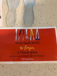 Vivian Lou high heel insoles. Never used 2 small 2 Med.  Burnaby, V3N 4R8