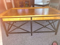 brown wooden framed top of table.  West Fargo, 58078