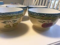two blue-and-green ceramic bowls Burlington, L7S
