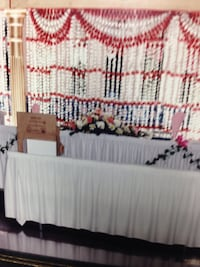Backdrop, Strands of red and white roses Mississauga, L5L 3E4
