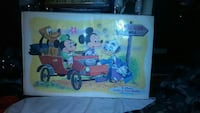 1961 Mat of Mickey Mouse Vintage Collectible