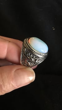 Men's size 11 genuine moonstone ring