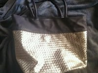 Silver/Navy blue bag