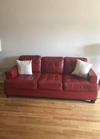 Red leather couch New York, 11214