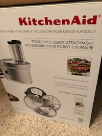 Kitchen Aid Food Prcessor attachment w/commercial style dicing kit! Used once, like new, retails for $120 on amazon!  Arroyo Grande, 93420
