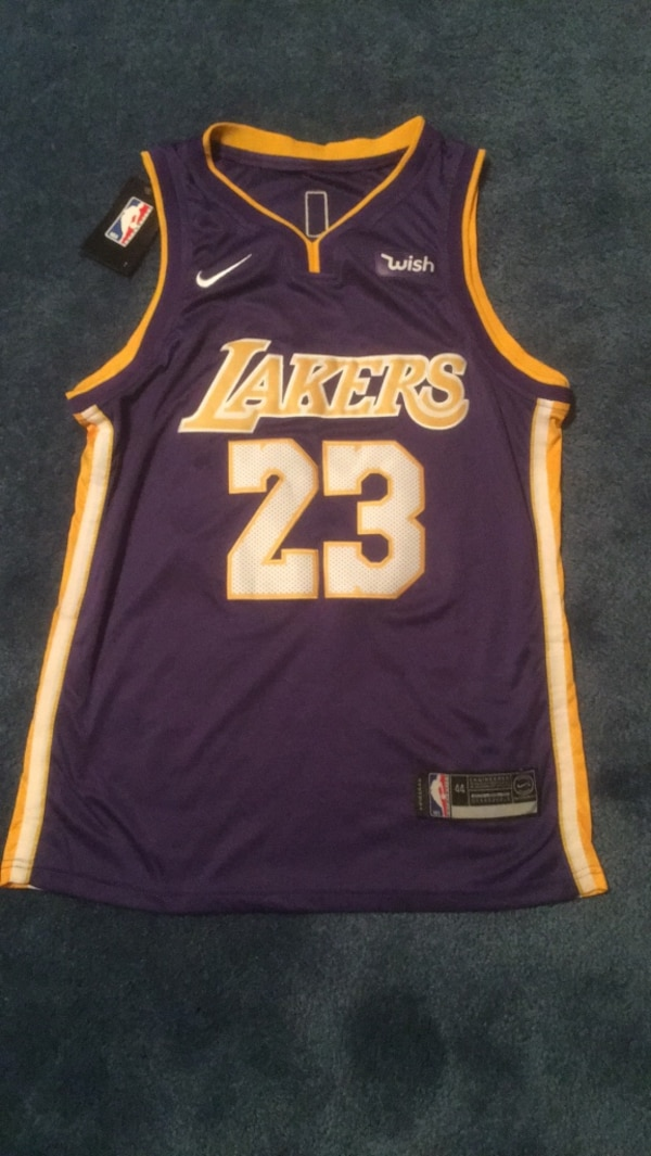 c82f28d80556b Used Authentic Lebron James Lakers Jersey Size 44 for sale in Manalapan -  letgo