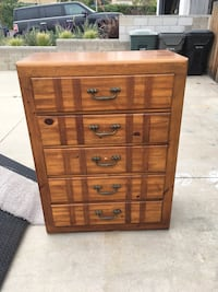 brown wooden 5-drawer chest Corona, 92882