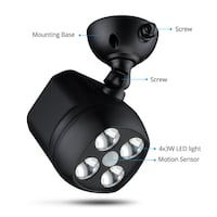 Weatherproof Wireless Battery Powered LED Motion Spotlight . Toronto