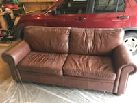 Brown Leather Foldout Couch  Arvada, 80003