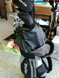 black and gray golf bag with clubs Coquitlam, V3J 4B5