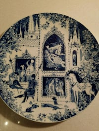 Vintage Blue and White Ceramic Wall Plate Washington, 20024