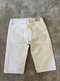 Shorts denim blanc