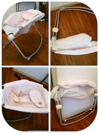 baby's white and pink cradle and swing Lorton, 22079