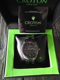 Croton CN307513 Tungsten & Ceramic Swiss Quartz Men's Watch Toronto