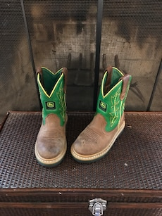 REDUCED! John Deere Boots. Boys Size 9
