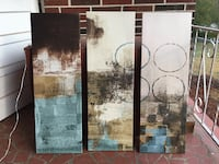 3-panel of abstract painting