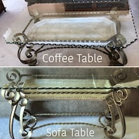 Glass with Stone Tray Metal Coffee AND Sofa Tables in Laguna Woods Placentia, 92870