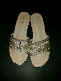 pair of gray leather sandals Corona, 92882