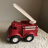 Green Toys Made In The USA Fire Truck Ladder Engine Rescue