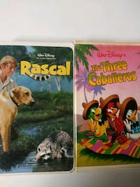 Rascal and The Three Caballeros vhs tapes Baltimore