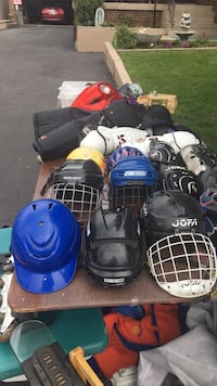 Baseball and hockey helmets 20$ each Toronto, M3M