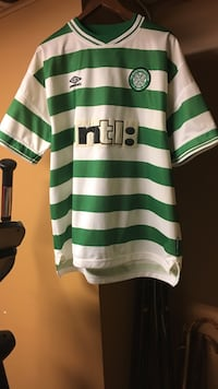 The Celtic football club, 1988 Celtic jersey from Scotland Hamilton, L9C 1J9