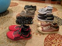 7 Pairs of Men's Shoes, Size 10.5, Van's, Inov8, K Fort Belvoir