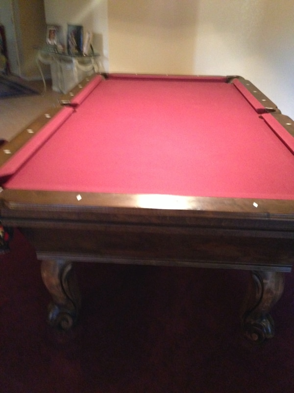 Used Connelly Pool Table New Felt Balls Pool Cues And Rack For - Connelly billiard table