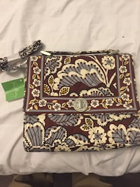 White brown and gray floral vera bradley cross body bag Chattanooga, 37421