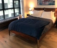 Arne Bed + Leather Cushions New York
