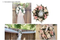 WEDDING DECORATIONS FOR SALE-Floral wreaths for walls or buffet tables Oviedo