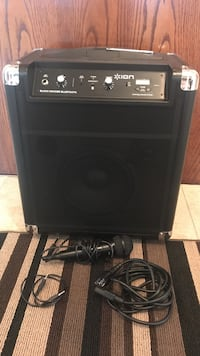 Perfect condition ION portable sound system. Comes with charger, mic and aux cord