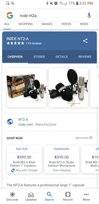 Rode nt2a professional condenser microphone Ijamsville, 21754