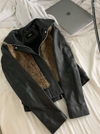 Rudsak Leather Jacket with real fur