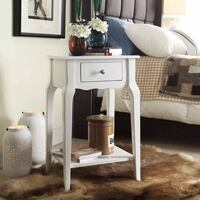 Accent Table with Shelf, White ,SKU# 44179 Santa Fe Springs