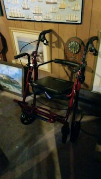 black and red rollator walker Fairhaven, 02719