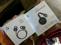 Pixel buds Bluetooth headphones and chrome cast  Coon Rapids