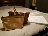 brown leather tote bag and wristlet London, N6P 1B5