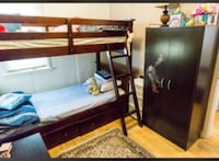 brown wooden bunk bed frame Winnipeg, R3T 1R3