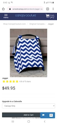 Blue Canopy Couture carseat cover