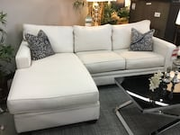 IVORY FABRIC REVERSIBLE CHAISE SOFA  Fountain Valley, 92708