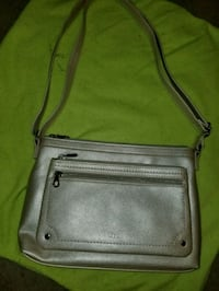 brown leather crossbody bag with silver buckle Winchester, 22602