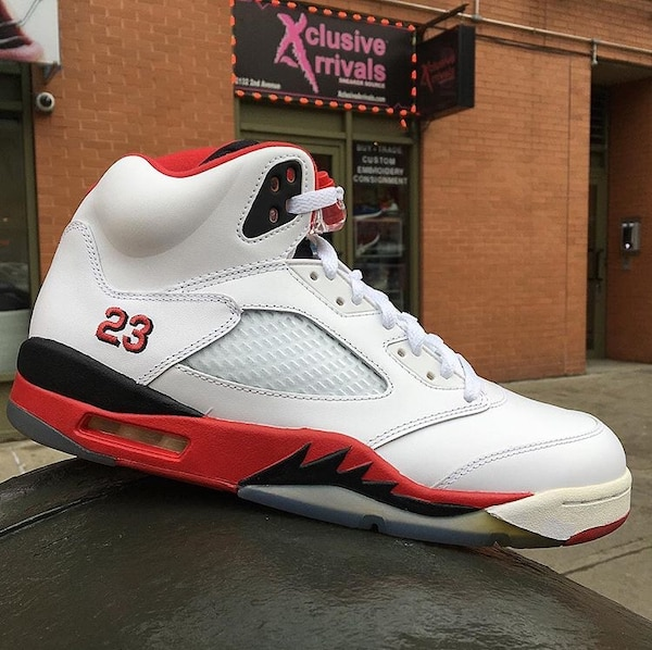 "new products c5ce6 4705e Used AIR JORDAN 5 RETO ""FIRE RED BLACK TONGUE"" 2013 RELEASE SIZE  10 for  sale in New York - letgo"