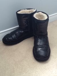 Pair of black ugg boots