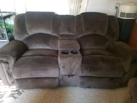 Brown micro suede home theater sofa Guelph, N1G 3A6