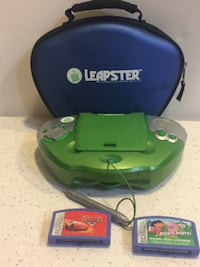 Leap Frog Leapster Educational Learning Game System With Blue Case & 2 Game Madison