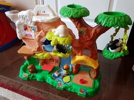 multiicolored plastic tree house *